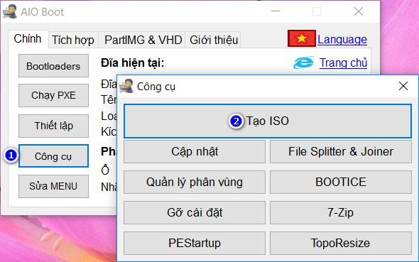 Tạo đĩa CD-ROM khởi động Grub2