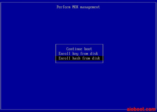 Grub2 Secure Boot - Perform MOK management