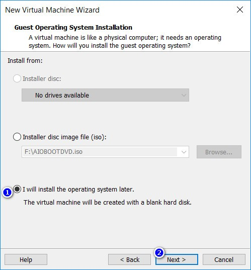 VMware Workstation - Guest Operating System Installation