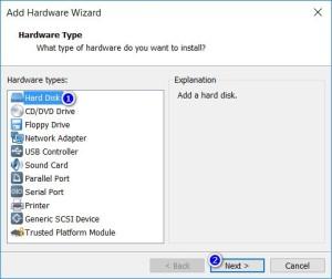 VMware Workstation - Hardware Type