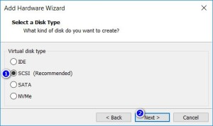 VMware Workstation - Select a Disk Type