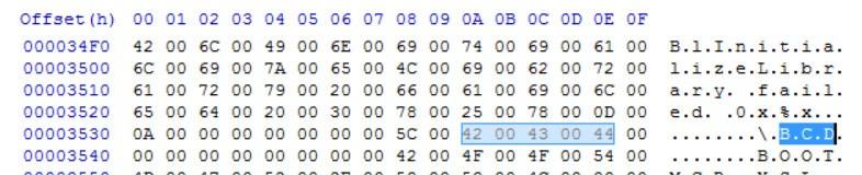 Thay đổi đường dẫn BCD cho bootia32.efi