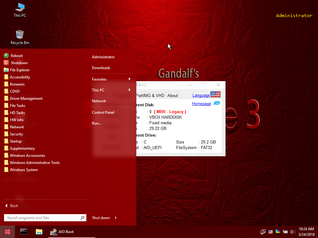 Integrates Gandalf's Windows 10PE and builds from Win10PE SE