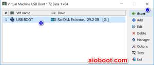 Virtual Machine USB Boot VirtualBox