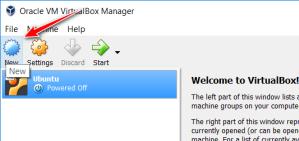 VirtualBox create a new virtual machine
