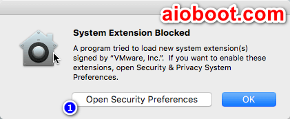 macOS System Extension Blocked